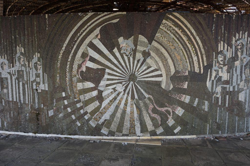 Mosaic inside Buzludzha, Bulgaria