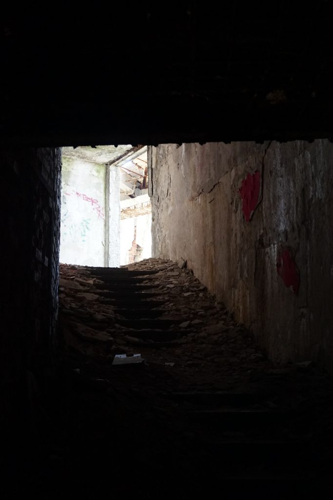 Stairs inside Buzludzha, Bulgaria