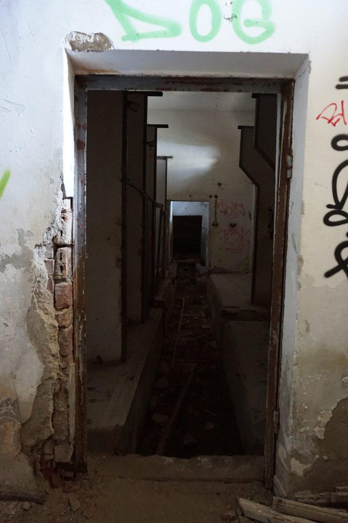 Corridors inside Buzludzha, Bulgaria