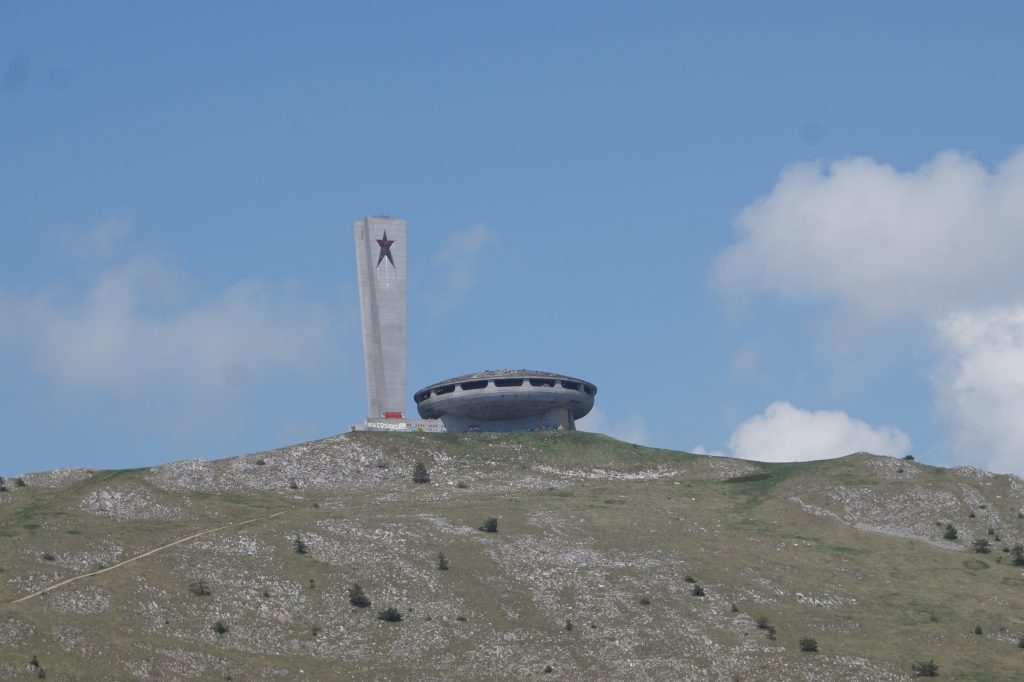 Alien ship form - Soviet monument on the mountain - Buzludzha, travelling in Bulgaria