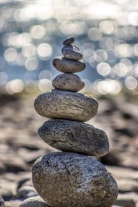 Stone construction - symbol of stillness and focus