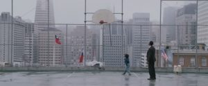 Screenshot from movie Pursuit of Happyness at the basketball court
