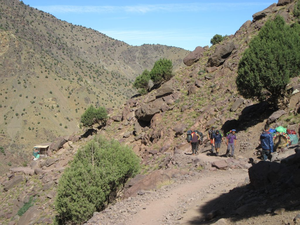 Other hidkers in Jebel Toubkal Route, Morocco