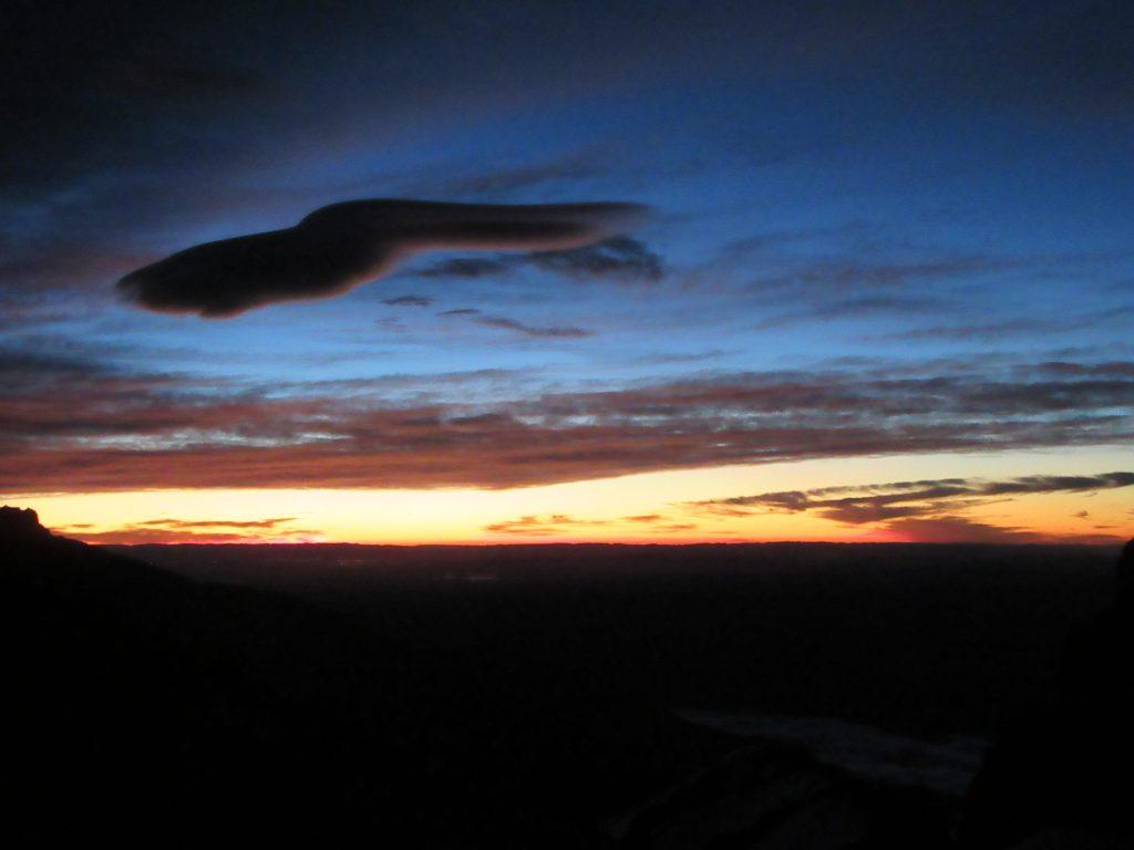 Unique, very dark cloud formation near Jbel Toubkal summit