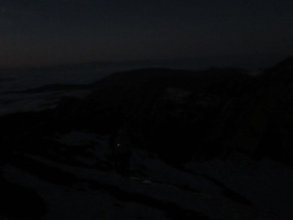 Near Jbel Toubkal in the dark