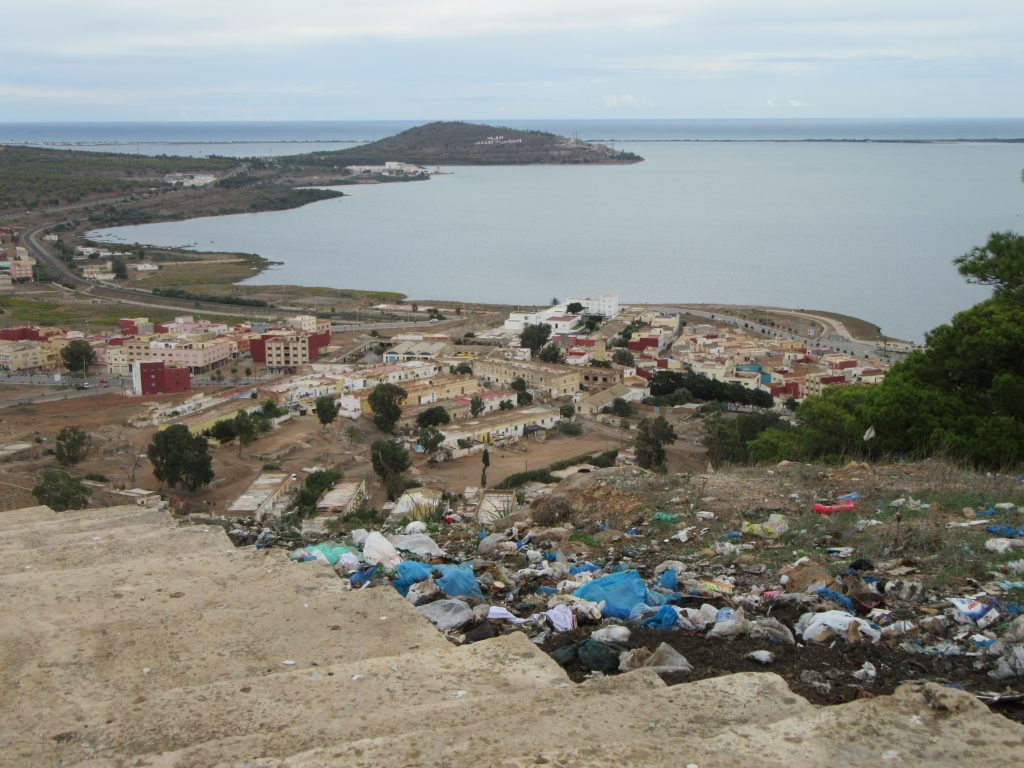 Trashy view from the hill of Nador, Morocco