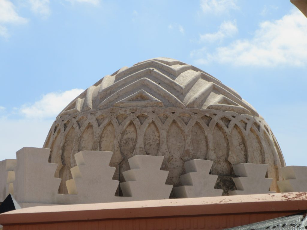 Beautiful dome of building in Medina, Marrakesh