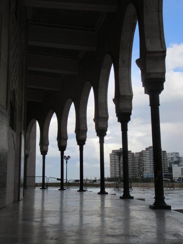 Geometric Mosque de Hassan II Casablanca 2018 October rain (1)