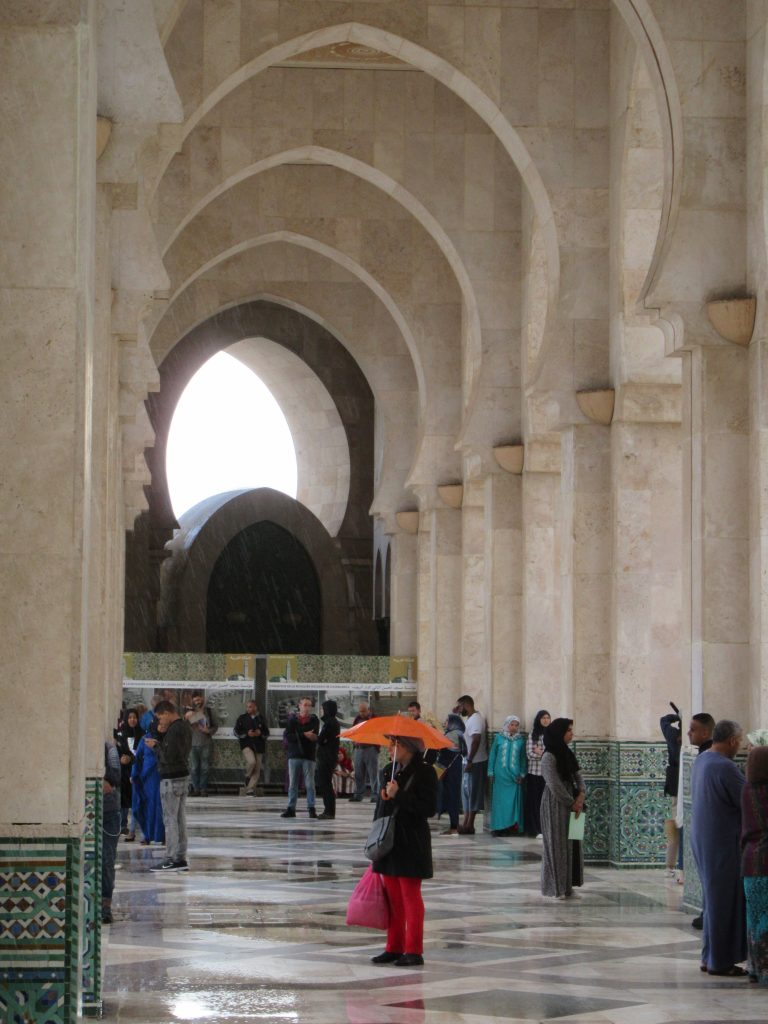 Geometric Mosque de Hassan II Casablanca 2018 October rain (1)