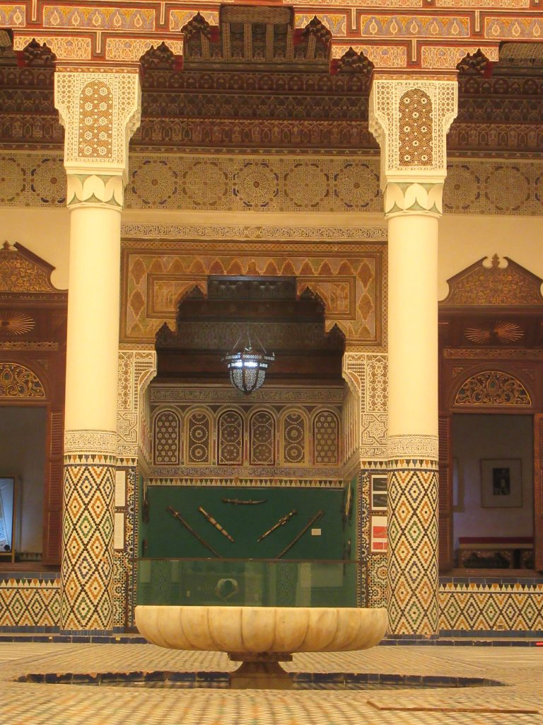 Main hall at Museum of Marrakesh