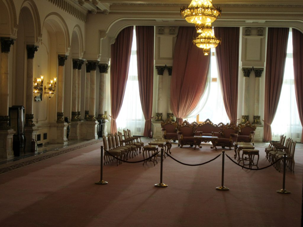 Inside Bucharest Parliament Palace. Where presidents sit and welcome visitors from foreign countries