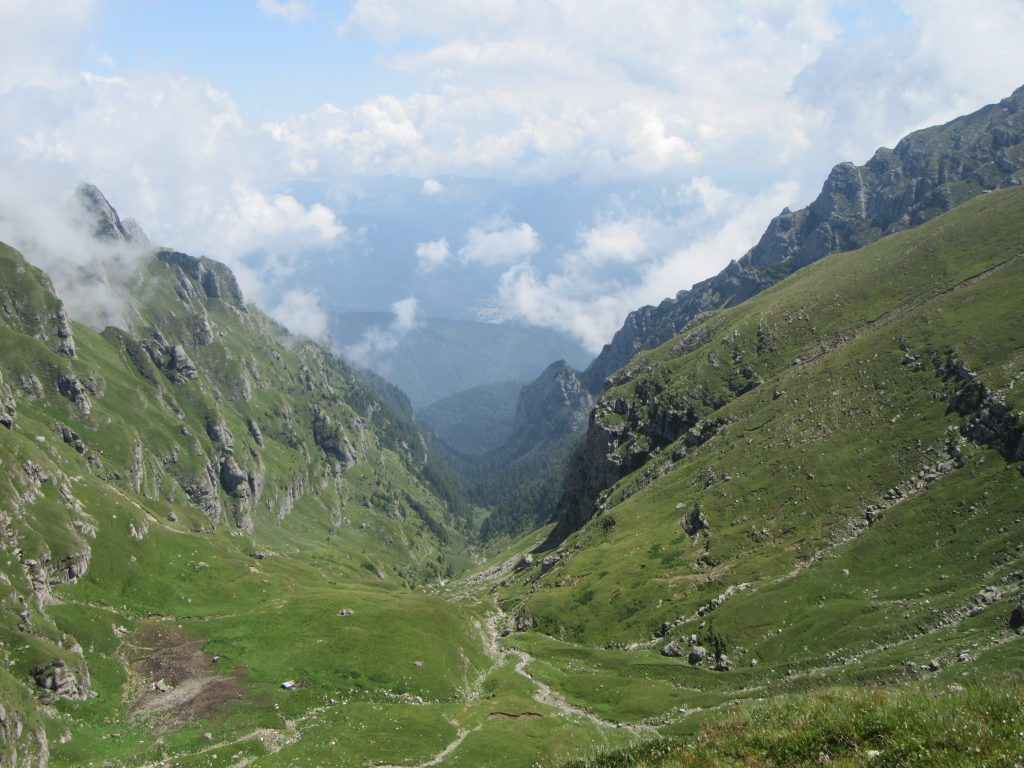 Mountain Pass at Bucegi Natural Park, Road Trip to Romania