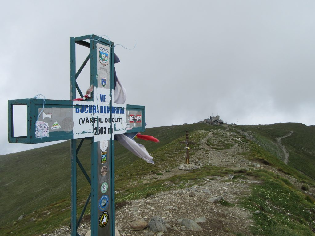 Near Omu Peak in Bucegi Natural Park Romania