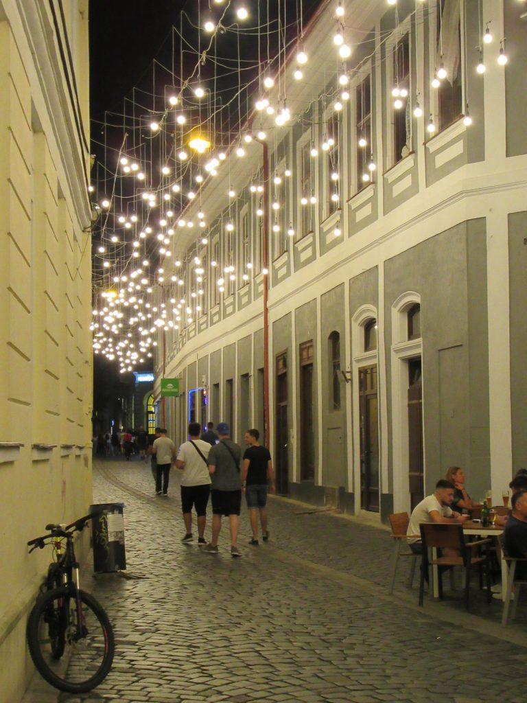 Cluj Napoca oldtown in evening lights