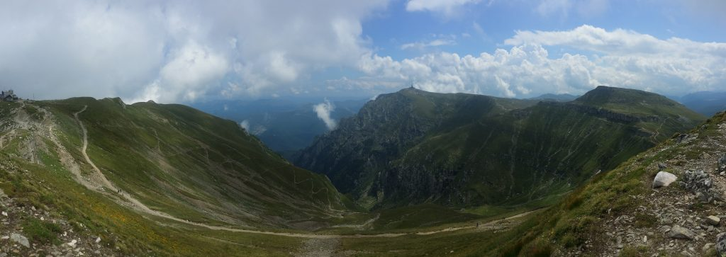 Panoramic View from Omu Peak Romania