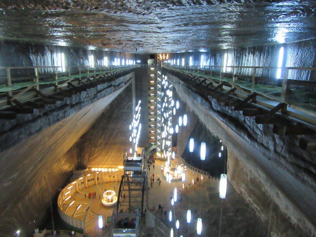 Inside Sci-Fi Salina Turda Salt Mine, Turda, Romania