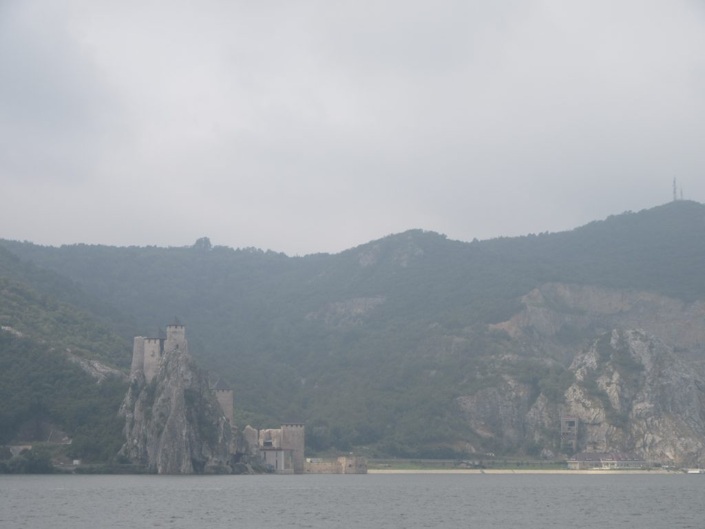 Serbian Castle on the other shore of Danube