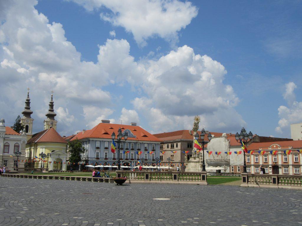 Timisoara Square, Road Trip to Romania