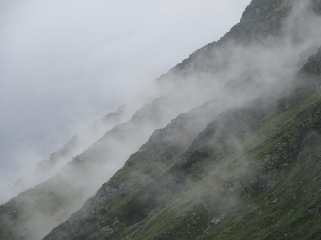 Rainy Clouds moving in Transfagarasan, Romania