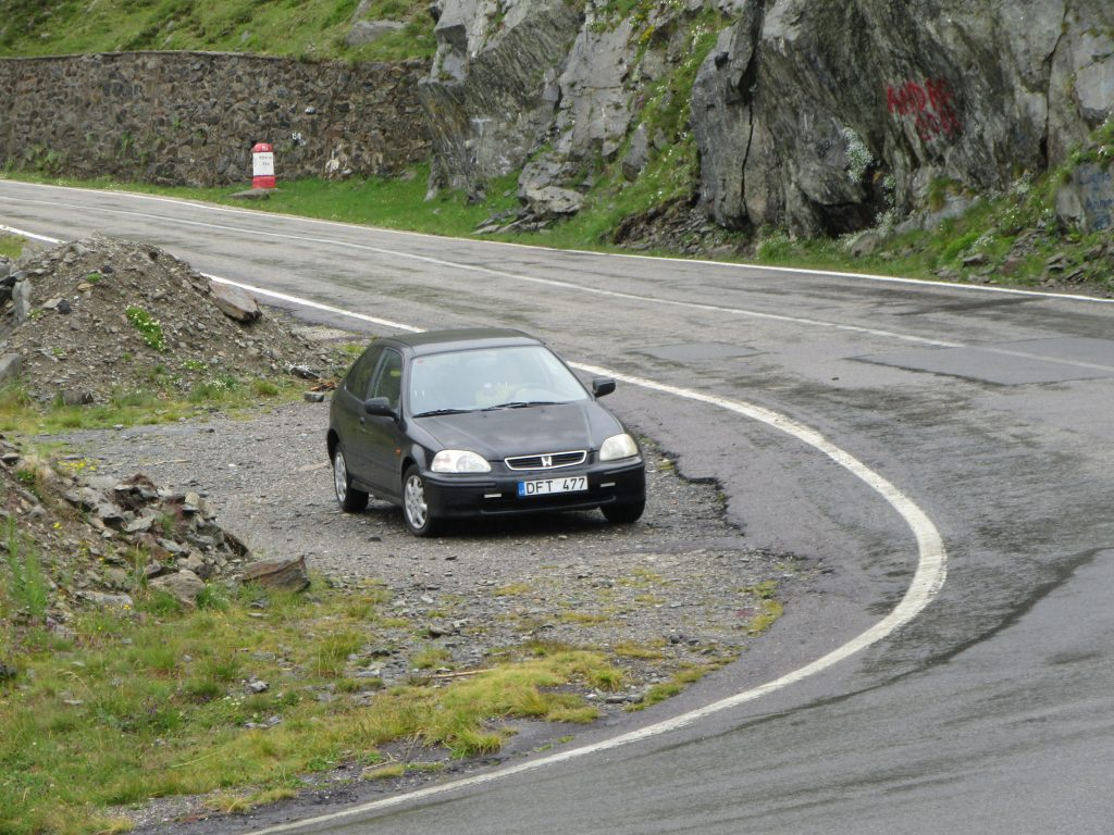 Honda Civic in Transfagarasan Road, Romania