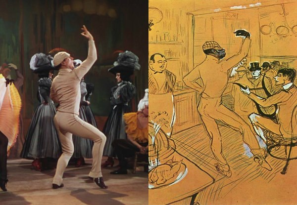 An American in Paris by Vicente Minelli (1951), Chocolate Dancing by Toulouse-Lautrec (1896)