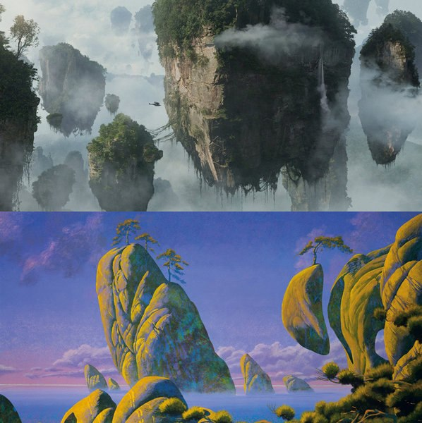 Avatar by James Cameron (2009), Floating Islands by Roger Dean (1993)
