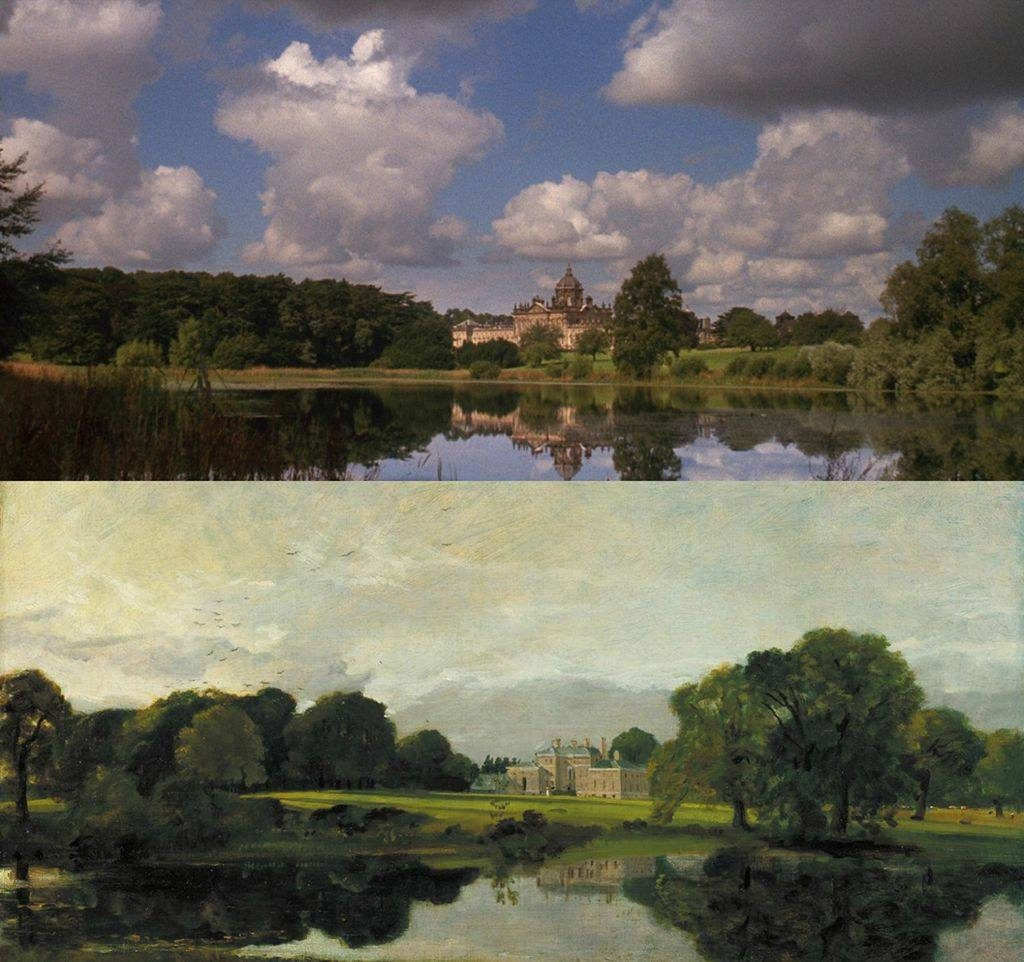 Barry Lyndon by Stanley Kubrick (1975) Malvern Hall Warwickshire by John Constable (1809)