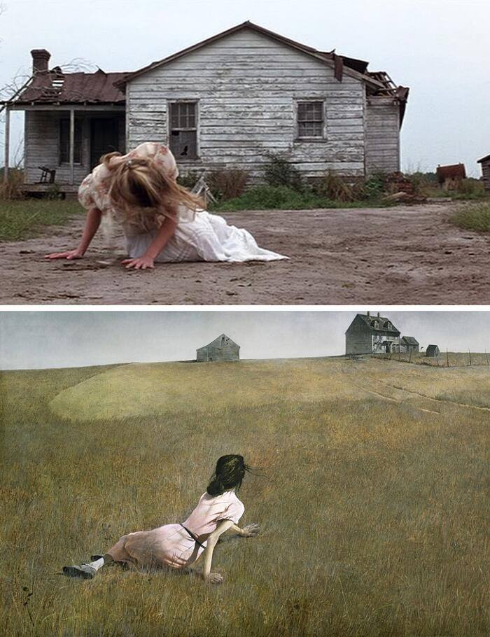 Forrest Gump, Robert Zemeckis (1994) The world of Cristina, Andrew Wyeth (1948)