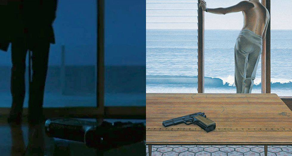 Heat by Michael Mann (1995), Pacific by Alex Colville (1967)