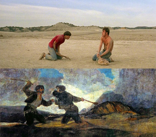 Jamon, Jamon by Bigas Luna (1992), Duel of Clobber by Francisco de Goya (1819)