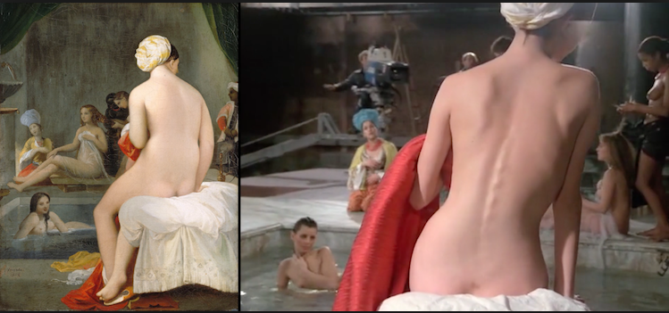 Little Bather - harem interior by Ingres (1828), Passion by Jean-Luc Godard (1982)