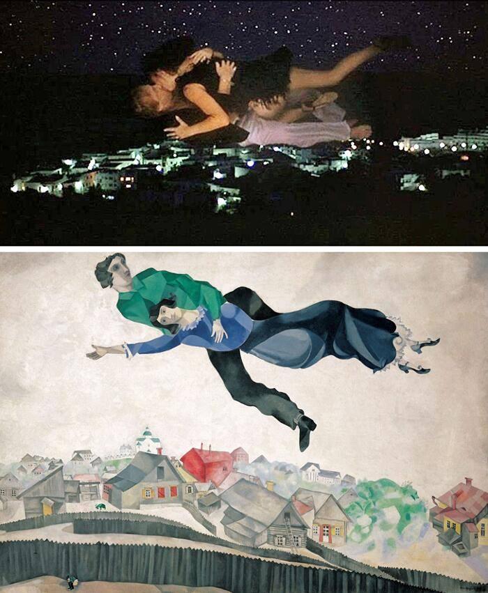 Sexy Beast, Jonathan Glazer (2001) Sobre la ciudad, Marc Chagall (1918)