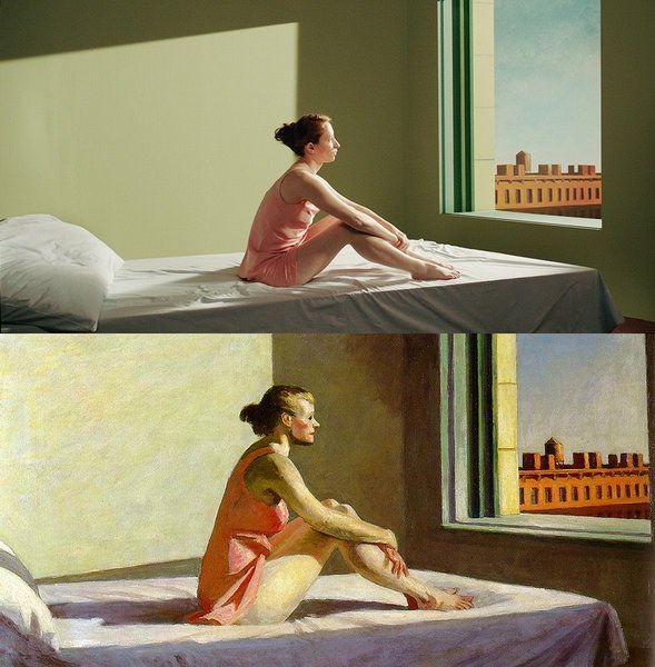 Shirley, Visions of Reality by Gustav Deutsch (2013), Morning Sun by Edward Hopper (1952)