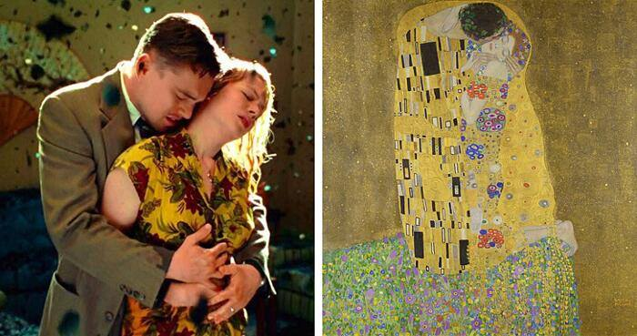 Shutter Island, Martin Scorsese (2010) El beso, Gustav Klimt (1908)