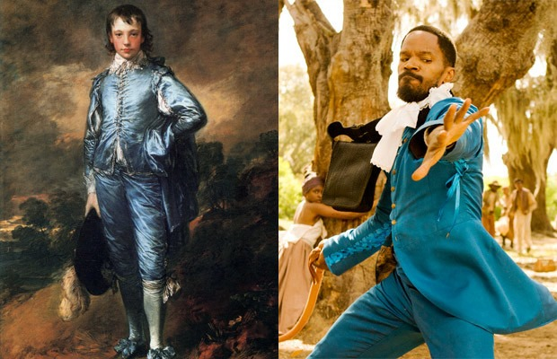 The Blue Boy by Thomas Gainsborough (1770), Django Unchained by Quentin Tarantino (2012)