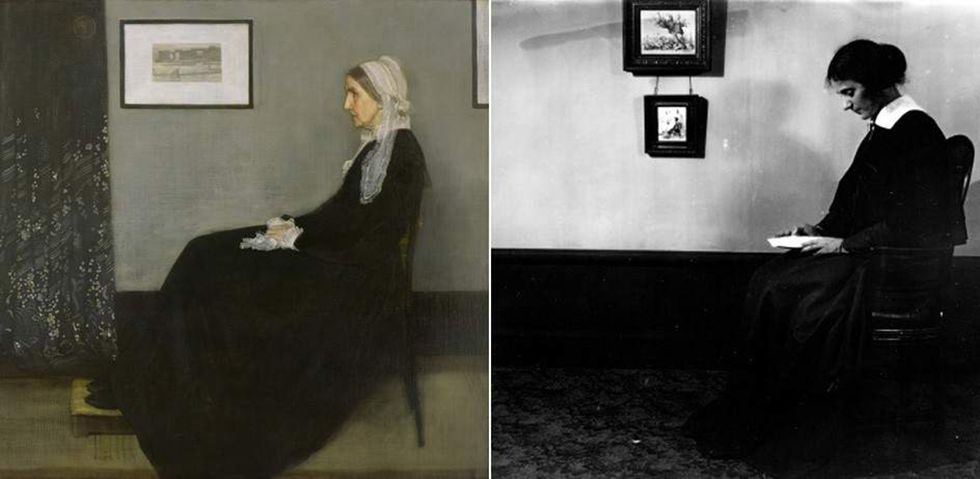The Mother of the Artist, Arrangement in white and black by James Whistler (1871), The President by Carl Theodor Dreyer (1919)