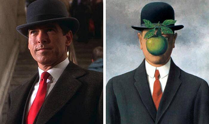 The Secret of Thomas Crown, John Mctiernan (1999) The Son of man, René Magritte (1964)