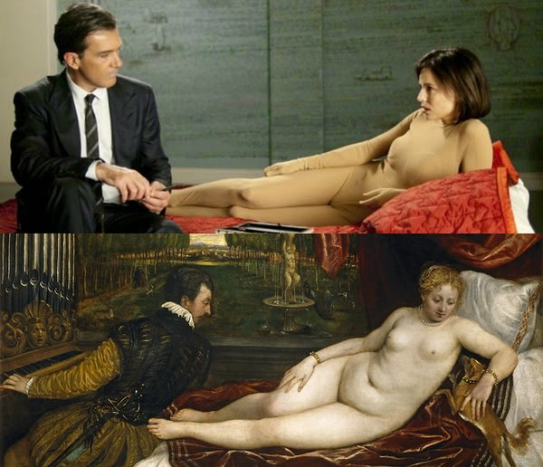 The Skin I Live In by Pedro Almodóvar (2011), Venus Re-creating in Music by Tiziano (1550)