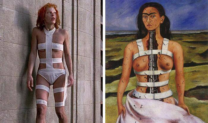 The fifth element, Luc Besson (1997) The Broken Column Frida Kahlo (1944)