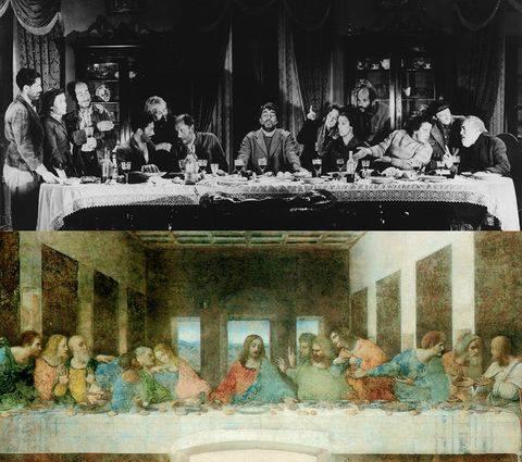 Viridiana by Luis Buñuel (1961), The Last Dinner by Leonardo Da Vinci (1495-1498)