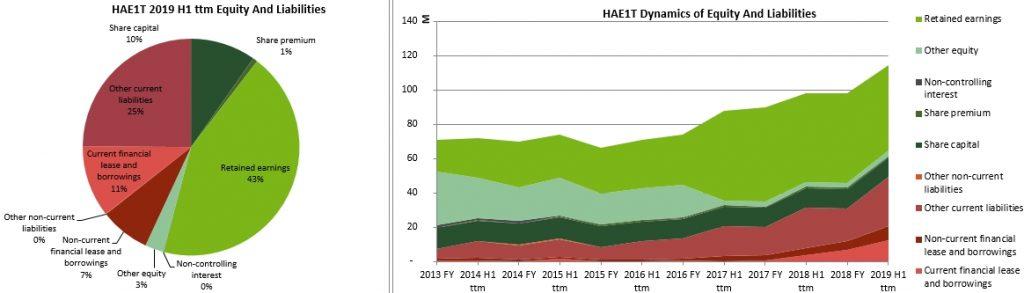 Harju Elekter historic balance sheet structure 2020 Jan