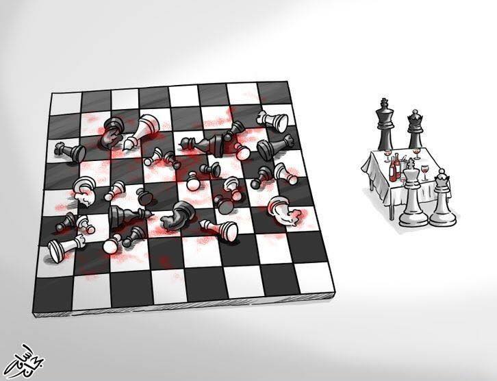 chess war satire