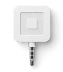 Square's Hardware solution to accept a credit card payment with smartphone. Hardware uses audio jack connection