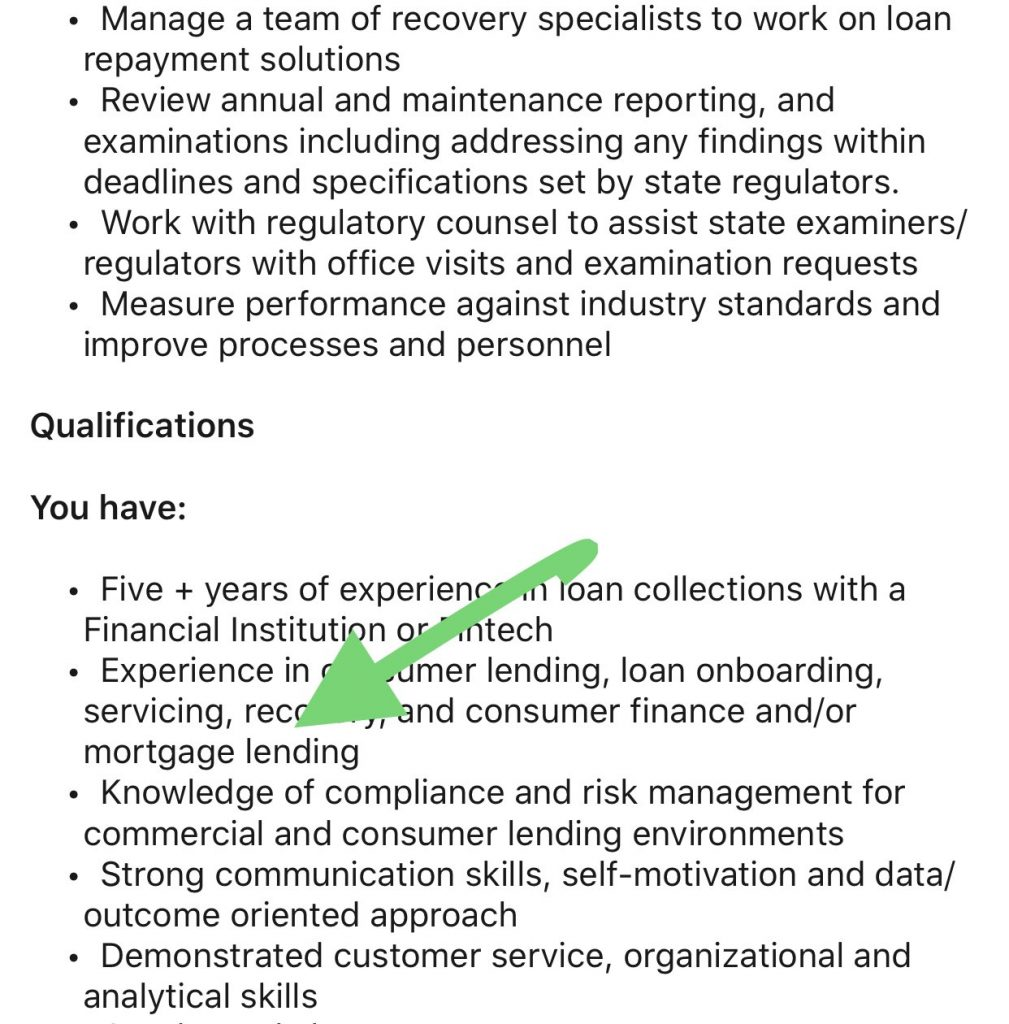 Square job opening for loan operations manager