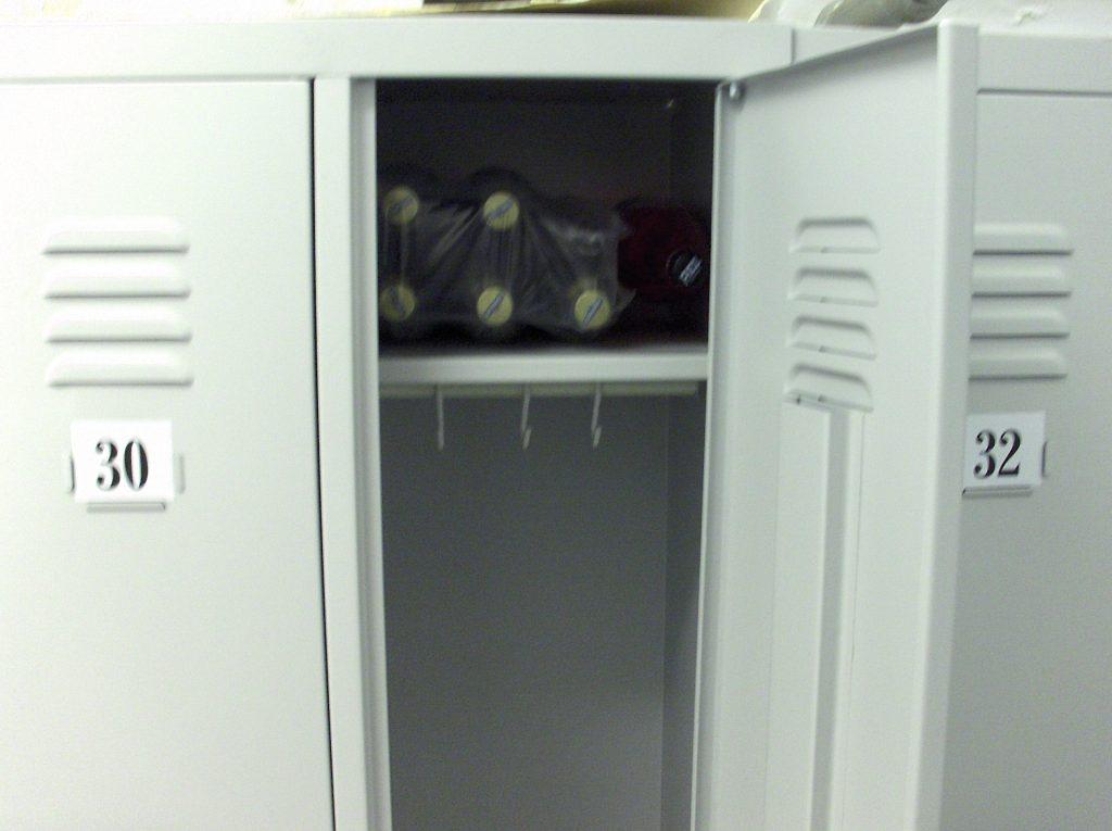 alcohol in locker