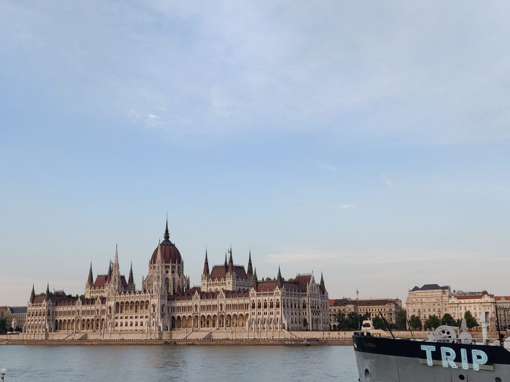 Budapest sights - Parliament building in the evening