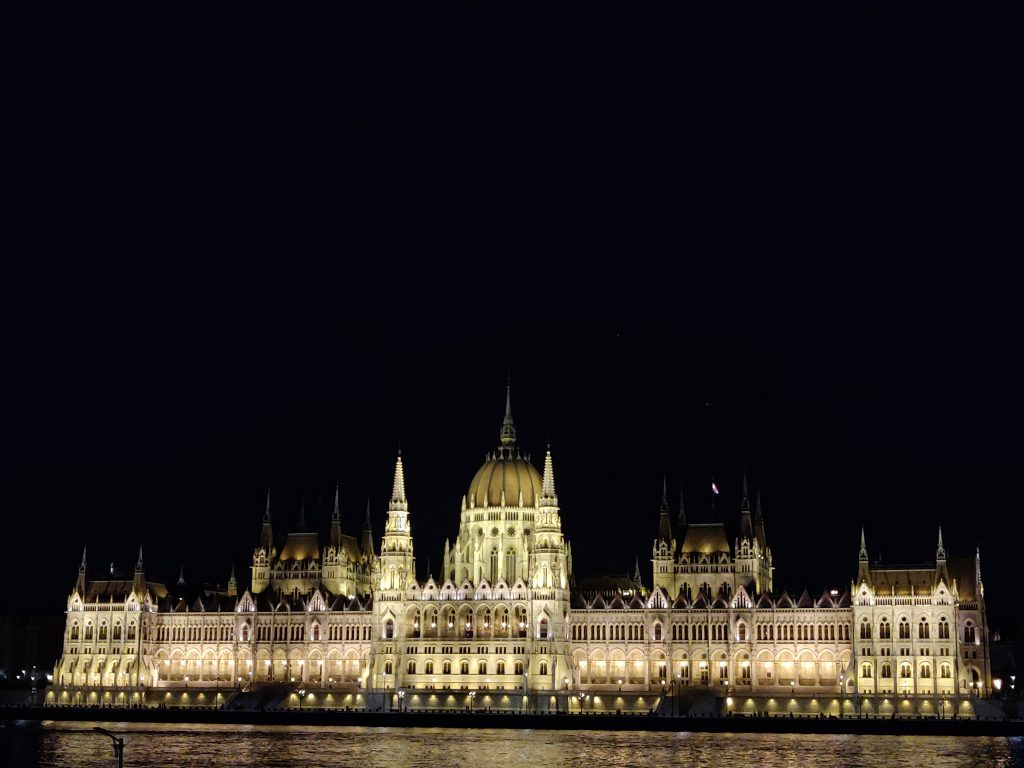 Budapest sights - Parliament building in the night