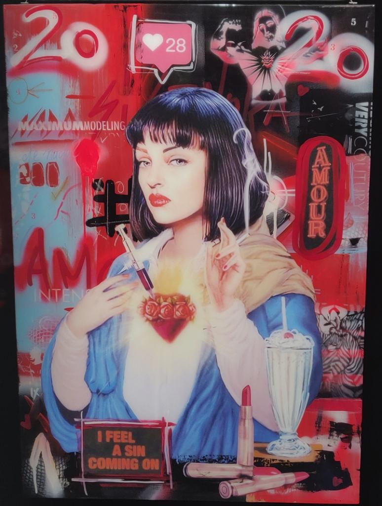 Uma Turman Pulp Fiction Autrian modern art museum public meme space