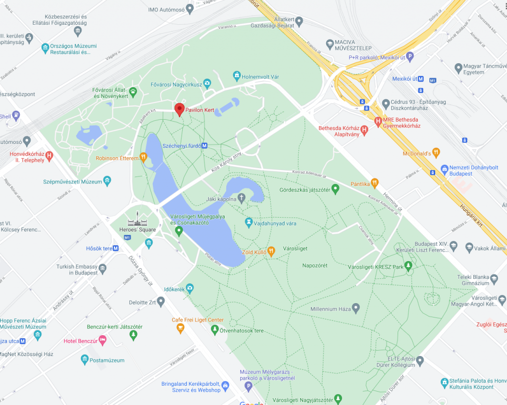 Budapest Heroes square map